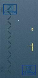 Рисунок на металлической дверной панели-№7