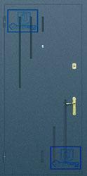 Рисунок на металлической дверной панели-№9