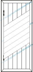 Рисунок тонной обшивочной доской полосы с ромбом