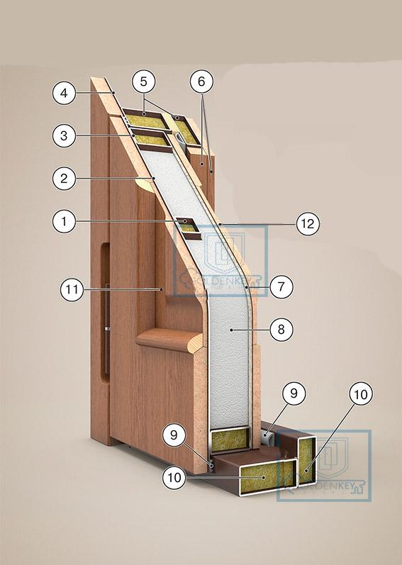 Металлоконструкция на акустическую входную дверь с повышенной шумоизоляцией